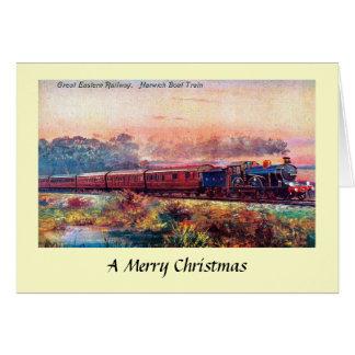 Cartão de Natal - grande estrada de ferro oriental