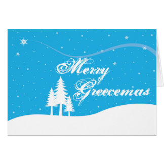 Cartão de Natal grego - engraçado - Greecemas