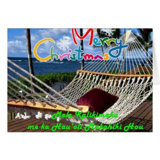 Cartão de Natal havaiano