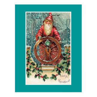 Cartão Postal Cartão de Natal holandês do vintage de Vroolijk