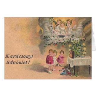 Cartão de Natal húngaro do vintage