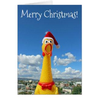 Cartão de Natal impressionante da galinha!