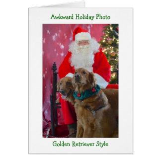 Cartão de Natal inábil do golden retriever