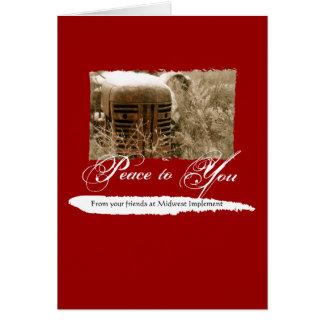 Cartão de Natal incorporado com trator velho