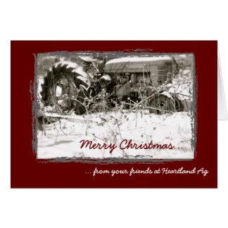 Cartão de Natal incorporado do trator