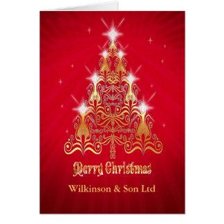 Cartão de Natal incorporado, estilizado da árvore