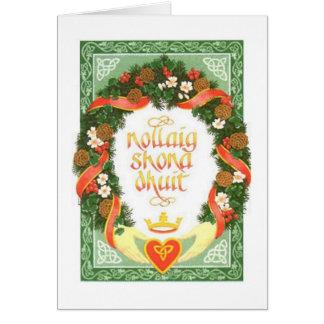 Cartão de Natal irlandês do vintage
