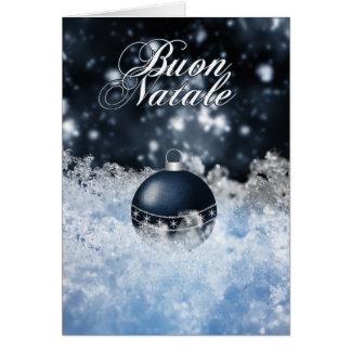 Cartão de Natal italiano - Buon Natale e Felice