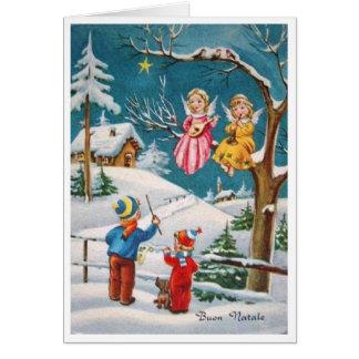 Cartão de Natal italiano de Buon Natale