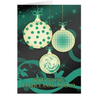 Cartão de Natal italiano do Feliz Natal - Buon