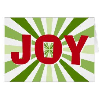 Cartão de Natal listrado da ALEGRIA dos doces