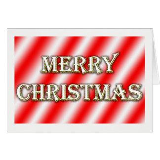 Cartão de Natal - listras do bastão de doces