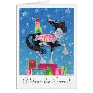 Cartão de Natal lunático aciganado de Vanner