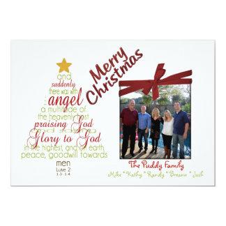 Cartão de Natal lunático religioso da foto 5x7 Convite Personalizados