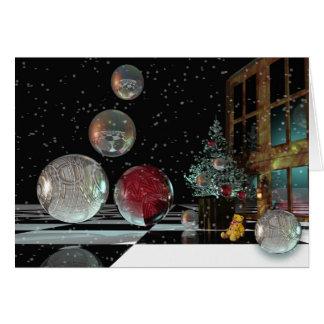Cartão de Natal mágico com texto