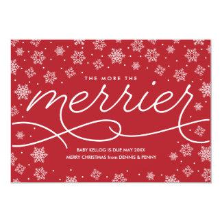 Cartão de Natal mais alegre do anúncio da gravidez