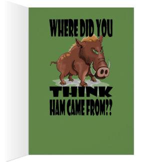 Cartão de Natal mal-humorado do varrão