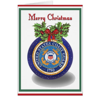 Cartão de Natal militar da guarda costeira