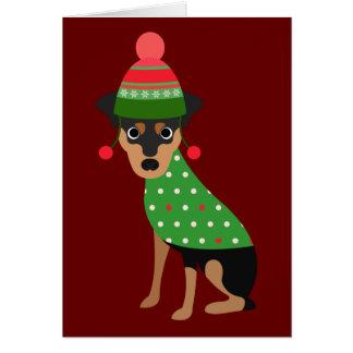 Cartão de Natal mínimo do Pin