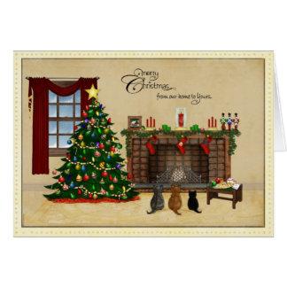 Cartão de Natal minúsculo dos tesouros