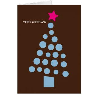 Cartão de Natal moderno - árvore de Natal