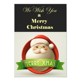 cartão de Natal moderno Convite 12.7 X 17.78cm