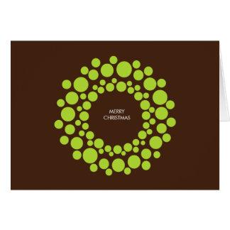Cartão de Natal moderno - grinalda verde