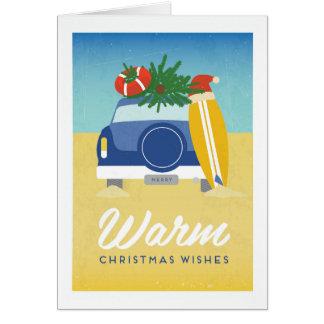 Cartão de Natal morno do verão do poster vintage