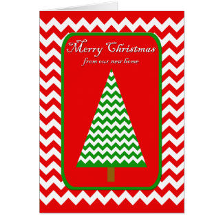 Cartão de Natal movente - mudança de endereço