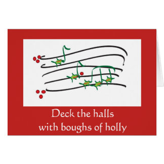 Cartão de Natal musical do contemporâneo do