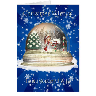 Cartão de Natal, Natal da esposa, duende em um