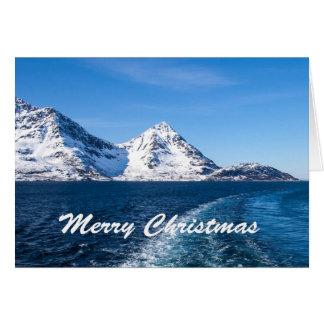 Cartão de Natal norueguês do fiorde