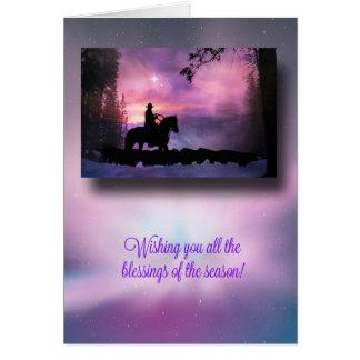 Cartão de Natal ocidental das bênçãos do país do