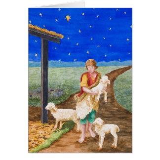 Cartão de Natal oriental da estrela