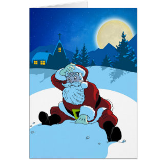 Cartão de Natal - papai noel de WTF