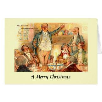 Cartão de Natal - papéis de Pickwick