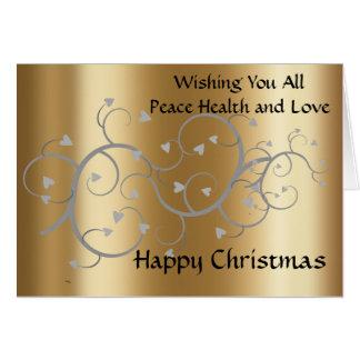 Cartão de Natal para a família e os amigos