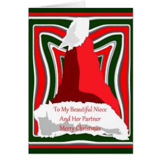 Cartão de Natal para a sobrinha e o seu sócio