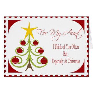 Cartão de Natal para a tia