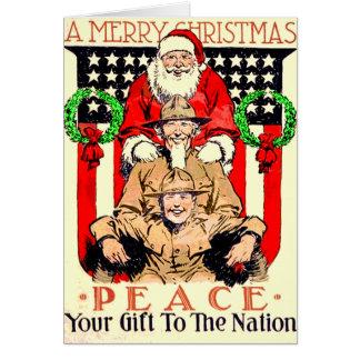 Cartão de Natal para alguém nas forças armadas