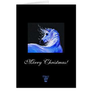 Cartão de Natal para amantes do cavalo
