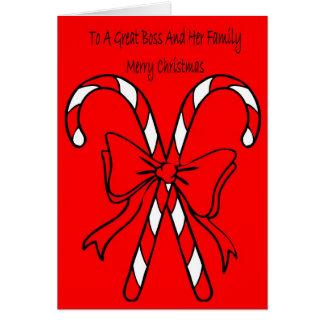 Cartão de Natal para o chefe e a família