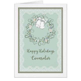 Cartão de Natal para o conselheiro Bels e a
