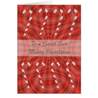 Cartão de Natal para o filho