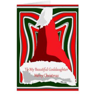 Cartão de Natal para o Goddaughter