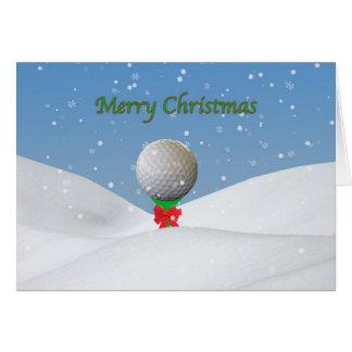 Cartão de Natal para o jogador de golfe