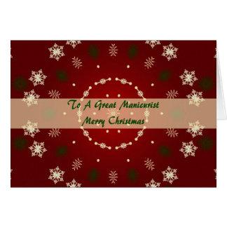Cartão de Natal para o manicuro