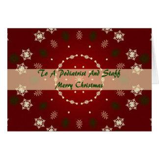 Cartão de Natal para o Podiatrist e os