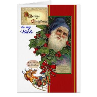 Cartão de Natal para o tio - papai noel do