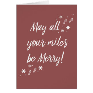 Cartão de Natal para os corredores! Milhas alegres